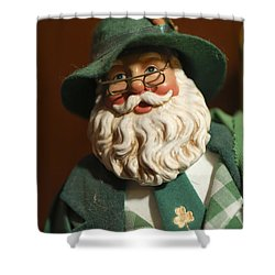 Santa Claus - Antique Ornament - 23 Shower Curtain by Jill Reger
