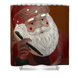 Santa Claus - Antique Ornament - 24 Shower Curtain by Jill Reger
