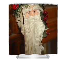 Santa Claus - Antique Ornament - 29 Shower Curtain by Jill Reger
