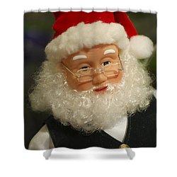 Santa Claus - Antique Ornament - 30 Shower Curtain by Jill Reger