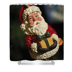 Santa Claus - Antique Ornament - 31 Shower Curtain by Jill Reger