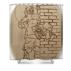 Santa Claus - Feliz Navidad Shower Curtain