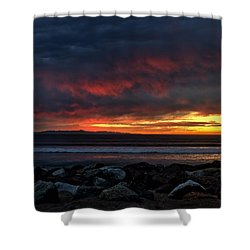Santa Cruz Rocks Shower Curtain by Michael Gordon