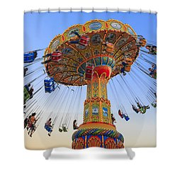 Santa Cruz Seaswing At Sunset 6 Shower Curtain by Scott Campbell
