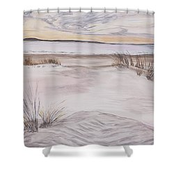 Santa Cruz Sunset Shower Curtain