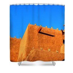 Santa Fe Adobe Shower Curtain