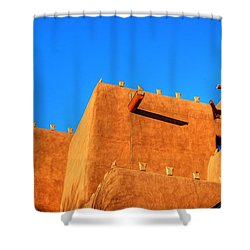 Santa Fe Adobe Shower Curtain