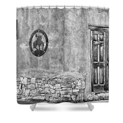 Shower Curtain featuring the photograph Santa Fe New Mexico Street Corner by Ron White