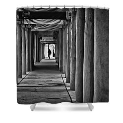 Shower Curtain featuring the photograph Santa Fe New Mexico Walkway by Ron White