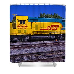 Santa Fe Southern Railway Engine Shower Curtain