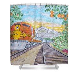 Santa Fe Super Chief Train Shower Curtain