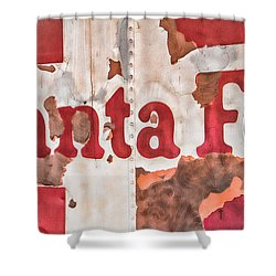 Santa Fe Vintage Railroad Sign Shower Curtain by Steven Bateson