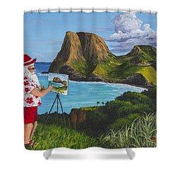 Santa In Kahakuloa Maui Shower Curtain