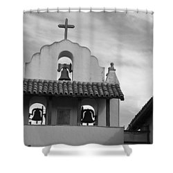 Santa Ines Mission Bell Tower Shower Curtain