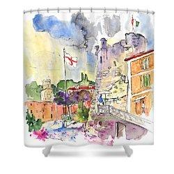 Santa Margherita In Italy 07 Shower Curtain by Miki De Goodaboom