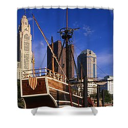 Santa Maria Replica Photo Shower Curtain