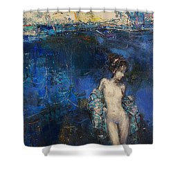 Santa Monica Beach Shower Curtain