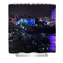 Santa Monica Pier 5 Shower Curtain