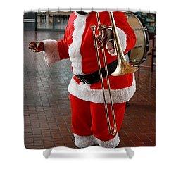 Santa New Orleans Style Shower Curtain by Joe Kozlowski