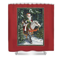 Santa Of The Northern Forest Shower Curtain by Lynn Bywaters
