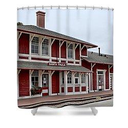 Santa Paula Station Shower Curtain by Michael Gordon