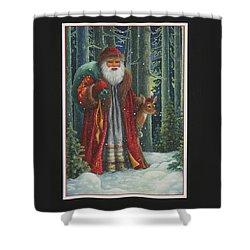 Santa's Journey Shower Curtain