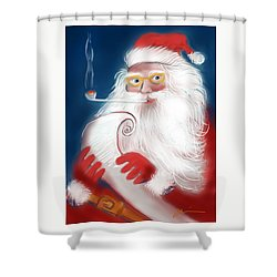 Santa's List Shower Curtain by Jean Pacheco Ravinski