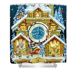 Santas Workshop Cuckoo Clock Shower Curtain