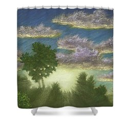 Santee Sunset 01 Shower Curtain