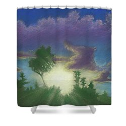 Santee Sunset 02 Shower Curtain