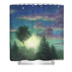 Santee Sunset 03 Shower Curtain