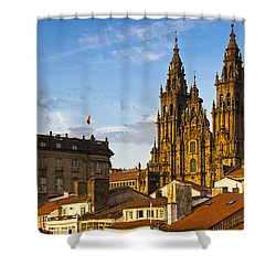 Shower Curtain featuring the photograph Santiago De Compostela Cathedral Galicia Spain by Pablo Avanzini