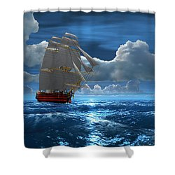Santisima Trinida In The Moonlight Shower Curtain
