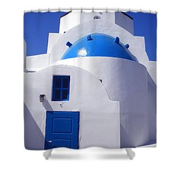 Shower Curtain featuring the photograph Santorini Church  by Colette V Hera  Guggenheim