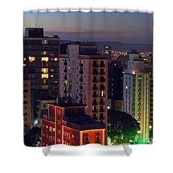 Sao Paulo Downtown At Dusk Shower Curtain