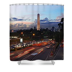 Sao Paulo Skyline - Ibirapuera Shower Curtain