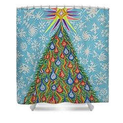 Sapin Noel Shower Curtain by Robert SORENSEN