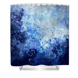 Sapphire Dream - Abstract Art Shower Curtain by Jaison Cianelli