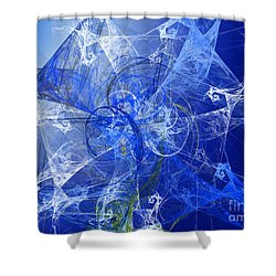 Sapphire In Blue Lace Shower Curtain by Andee Design