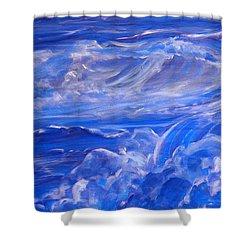 Sapphire Sea Shower Curtain