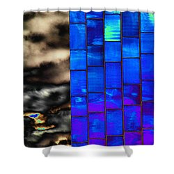 Shower Curtain featuring the photograph Sapphire Sunset by Christiane Hellner-OBrien