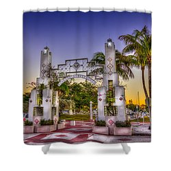 Sarasota Bayfront Shower Curtain by Marvin Spates