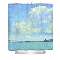 Sarasota Skyline From Sarasota Bay Shower Curtain
