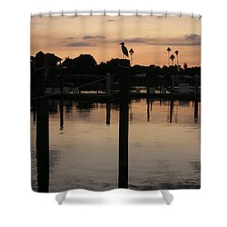 Sarasota Sunset Shower Curtain by Emmy Marie Vickers