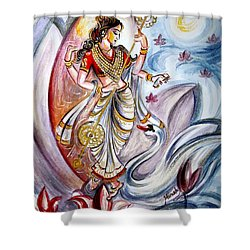 Saraswati Shower Curtain by Harsh Malik