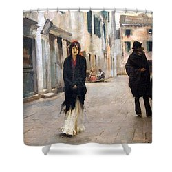 Sargent's Street In Venice Shower Curtain by Cora Wandel