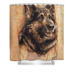Sasha German Shepherd Shower Curtain