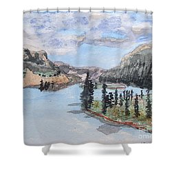 Saskatchewan River Crossing - Icefields Parkway Shower Curtain