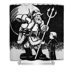 Satan Santa Shower Curtain