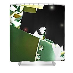 Satellite View Shower Curtain by First Star Art